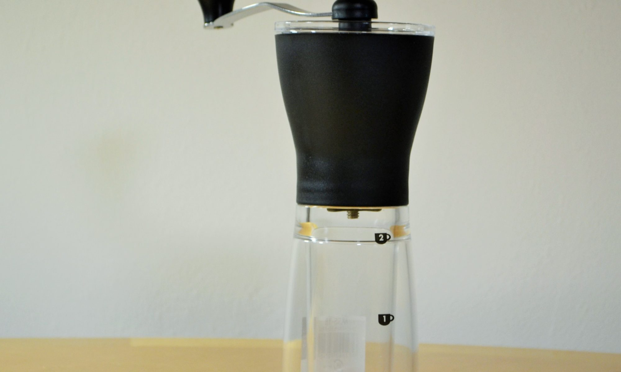 Hario Mini Mill hand coffee grinder available at artistrycoffee.co.uk