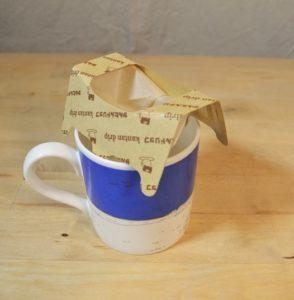 Kalita Kantan on top of a mug