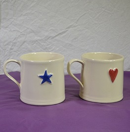 Heart and Star Mugs