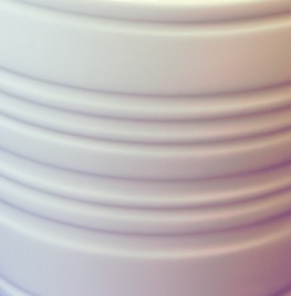 ribbed design on mug